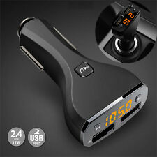 Bluetooth Hands-Free FM Transmitter C30S Car Kit Dual USB Charger MP3 Playe