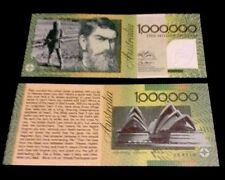 Australia 1 Million Dollar Banknote Ft Ned Kelly Sydney Bridge Novelty Money Fun