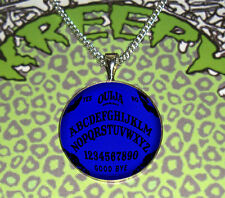 BLUE OUIJA BOARD GOTHIC PENDANT NECKLACE VOODOO SEANCE