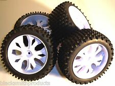 Bs937-009 / 10 Escala 1/10 Scale Rc Buggy Off Road Ruedas y neumáticos x 4 blancos