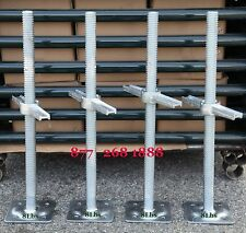 "cbmscaffold.com 4 New Scaffolding 24"" Galvanized Screw Jack w/Base Plate"