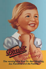 Tin sign 20x30 cm Brandt Zwieback Food blue yellow RV 300/104