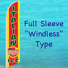 ITALIAN ICE WINDLESS FEATHER FLAG Swooper Flutter Banner Advertising Sign 3070