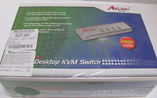 AirLink Slim Desktop KVM Switch. Model # AKVM4 Access and control 4 PCs