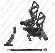 Adjustable CNC Rearsets Footpegs Pedals Footrest For Ducati 999 749 all years bk