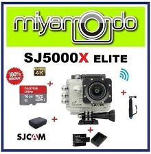 SJCAM SJ5000X WiFi Action (Silver) + Monopod + Sandisk 16GB + Batt+Charger + Bag