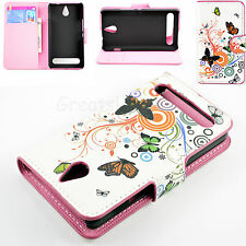 Flip Leather Phone Case Cover Protector For Sony Xperia E1 D2004 / D2005 experia
