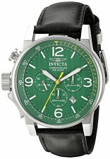 Invicta Men's 20132SYB I-Force Chronograph Green Dial Black Leather Watch