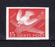ESTONIA 1940 bird pigeon  SC# 152 IMPERFORATED + PERFIN Airmail , Airplane mnh