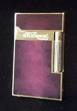 ST DUPONT ATELIER LINGE LINE 2 LIMITED EDITION PALLADIUM LIGHTER PURPLE LACQUER