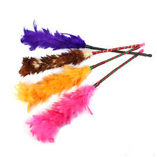 Multicolor Feather Duster Plastic Handle Turkey Office Home Sofa Cleaner SK