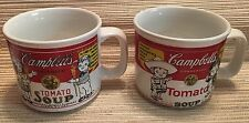 SET OF TWO (2) VINTAGE CAMPBELL'S KIDS SOUP MUGS CUPS 1999