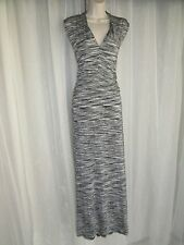 VINCE CAMUTO Womens Plus Size 3X 22-24 Black White Striped Drop Waist Maxi Dress