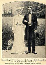 Herzog Siegfried von Bayern Erzherzogin u. Maria Annunciata Bilddokument 1902