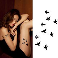 Women Temporary Flash Tattoos Inspired Body Art Makeup Sticker Birds Tattoo Art