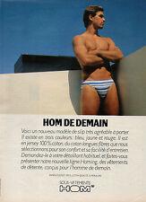Publicité Advertising 1983  Lingerie HOM slip homme sous vetement