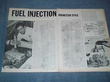 1966 Vintage Tech Info Article on the Rochester Fuel Injection for Chevy