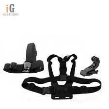 Adjustable Chest Mount B + Head Strap B + J-hook Buckle Mount for GoPro Hero 3 2