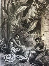 Arrivée de Réné chez les Naches impression Gilquin et Dupain circa 1859