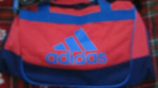 New Adidas Defender Duffel Small Gym Bag Red/Blue