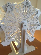 Candy Cart Ferris Wheel,Snowflake,Flatpack,60cm High,Free Metal Sign.