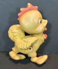 Vintage Rempel Toy Squeak Baby Rooster Yellow Rubber Latex 1950 Boys & Girls 6""