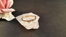 Ring mit 1 Brillanten 0,03 ct TV Brillantenring Gelbgold 585 14 kt, 58 Größe