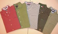 Lot of 5 TOMMY HILFIGER COLORBLOCK L/S BUTTON FRONT LARGE  Shirts Men T5459