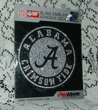 UNIVERSITY Of ALABAMA  CRIMSON TIDE 6 ROUND  BLING EMBLEM ADHESIVE  DECAL NEW