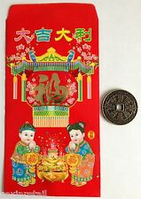LUCKY CHINESE COIN & ENVELOPE - Wealth Protection & Good Luck -Same Day Despatch