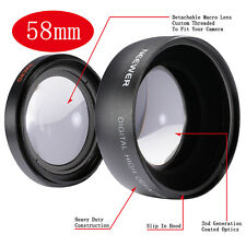 58mm 0.45x Wide Angle & Macro Conversion Lens for Nikon Canon Pentax SLR Camera