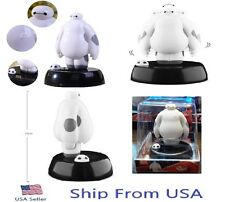 "New Big Hero 6 Baymax Figure Solar Powered Dancing Movable Toy 4"" Car Decoration"