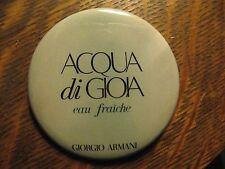 Giorgio Armani Acqua Di Gioia Eau Fraiche Fragrance Logo Lipstick Pocket Mirror
