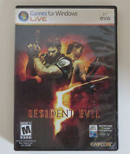 Resident Evil 5 Windows Live PC DVD Video Game