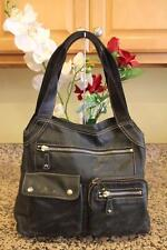Fossil BLACK LEATHER CARGO POCKET BAG PURSE (PU140