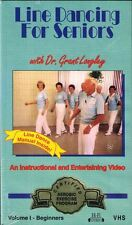 Line Dancing for Seniors with Dr. Grant Longley VHS Vol. 1 for Beginners Sealed