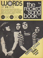 Slade on Record Song Book Magazine Cover March 1972    Elton John    Bob Dylan