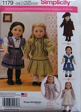 "AMERICAN GIRL 18"" DOLL CLOTHES PATTERN SAMANTHA KIRSTEN MOLLY HISTORICAL NEW"
