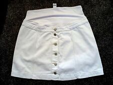 "TOPSHOP-  White ""OVER THE BUMP""Fit & Flare MATERNITY   Skirt Size 14 bnwts"