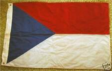 Rare WW2 CZECHOSLOVAKIAN FLAG, 3-PIECE , WOOL, stamped, pennant armband