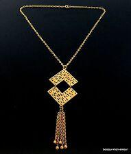 1960s abtrakte Modernist Collier Kette Necklace Halskette mit Anhänger Collana