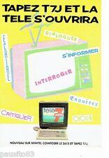 PUBLICITE ADVERTISING 116  1986   magazine TV 7 jours  sur minitel télé 7 jours