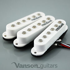NEW Set of Wilkinson HOT Single Coil Pickups for Strat®* guitars, WHITE MWHS