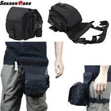 Airsoft Tactical Drop Leg Bag Platform Utility Pouch V1 BK Nylon Buckle Zipper