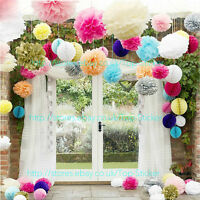10-30 Wedding Party Hanging Tissue Paper Pom Pom Lantern Decoration Balls 3 Size