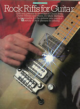 Rock Riffs For Guitar, by; Mark Michaels - The Riff Series - 1984, Nice Cond