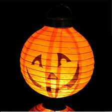 Pumpkin Halloween LED Paper Hanging Lantern DIY - Holiday Party Decor Scary