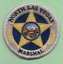 J5 * GB MARSHAL SERVICE NORTH LAS VEGAS NEVADA STATE SHAPE POLICE SWAT PATCH FBI