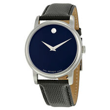 Movado Classic Museum Dark Navy Dial Mens Watch 2100007