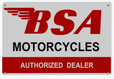 "New BSA Motorcycles Authorized Dealer Shop 12"" x 18"" Sign"